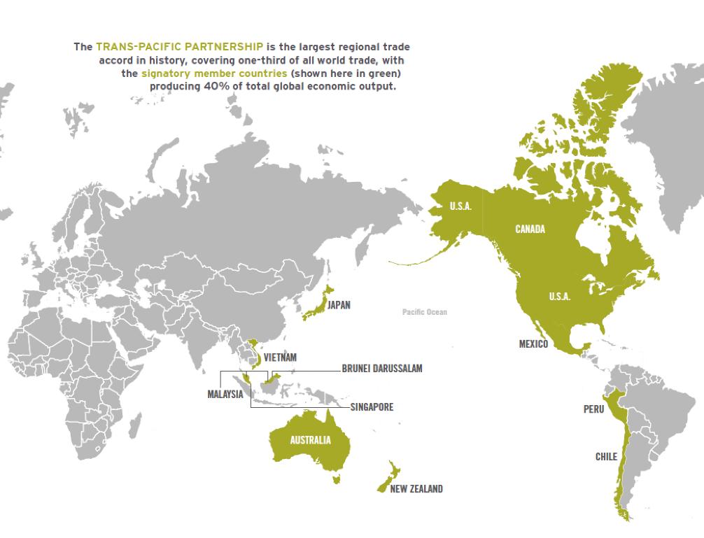 Trans-Pacific Partnership Map