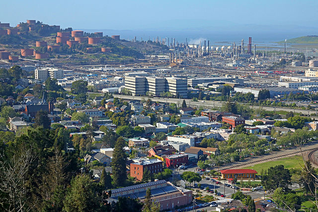 View of Point Richmond and the Chevron Refinery via Audiohifi (Creative Commons License)