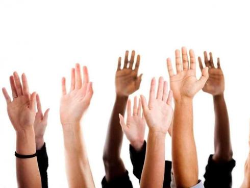 Diverse Raised Hands/Creative Commons License/WUNC.org