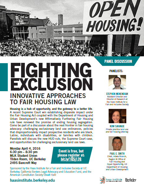 Fighting Exclusion Housing Panel Poster