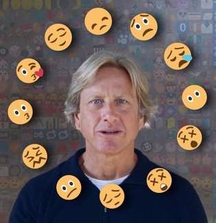Dacher Keltner Screenshot from a recent video on the power of emojis