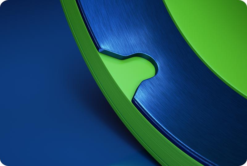 Full inner metal ring for flexographic printing sleeve