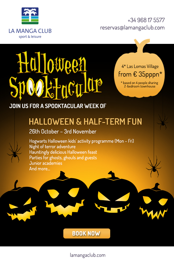 Join us for a spooktacular week of Halloween and half-term fun! 26th October - 3rd November.  Hogwarts Halloween kids activity programme (Mon - Fri), Night of Terror adventure, Hauntingly delicious Halloween feast, Parties for ghosts, ghouls and guests, Junior academies and more... Click to check availability and book.