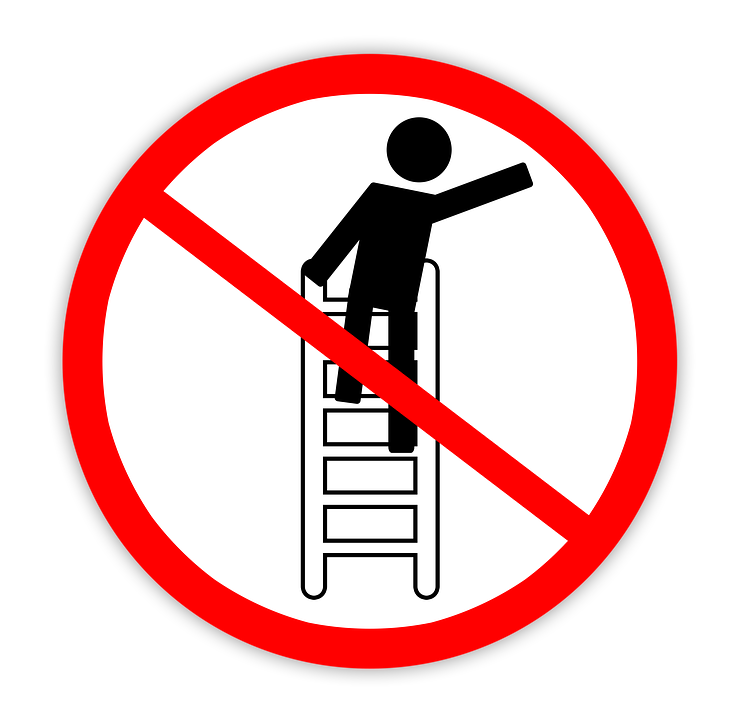 The risks of using a ladder