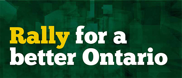 Rally for a better Ontario