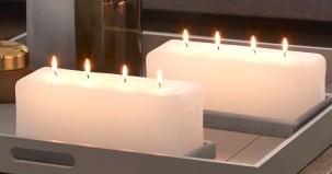 rustiek kaarsen met 3, 4 of 5 lonten