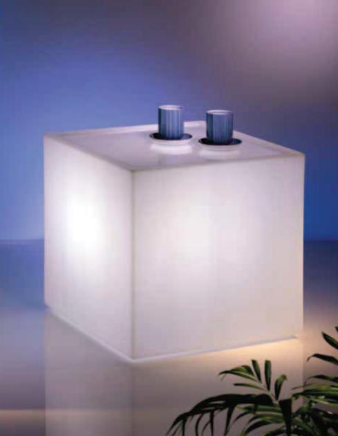 Verlichte potten en objecten