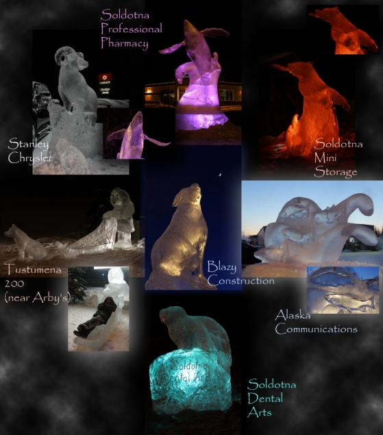 Soldotna business ice sculptures by the Firths