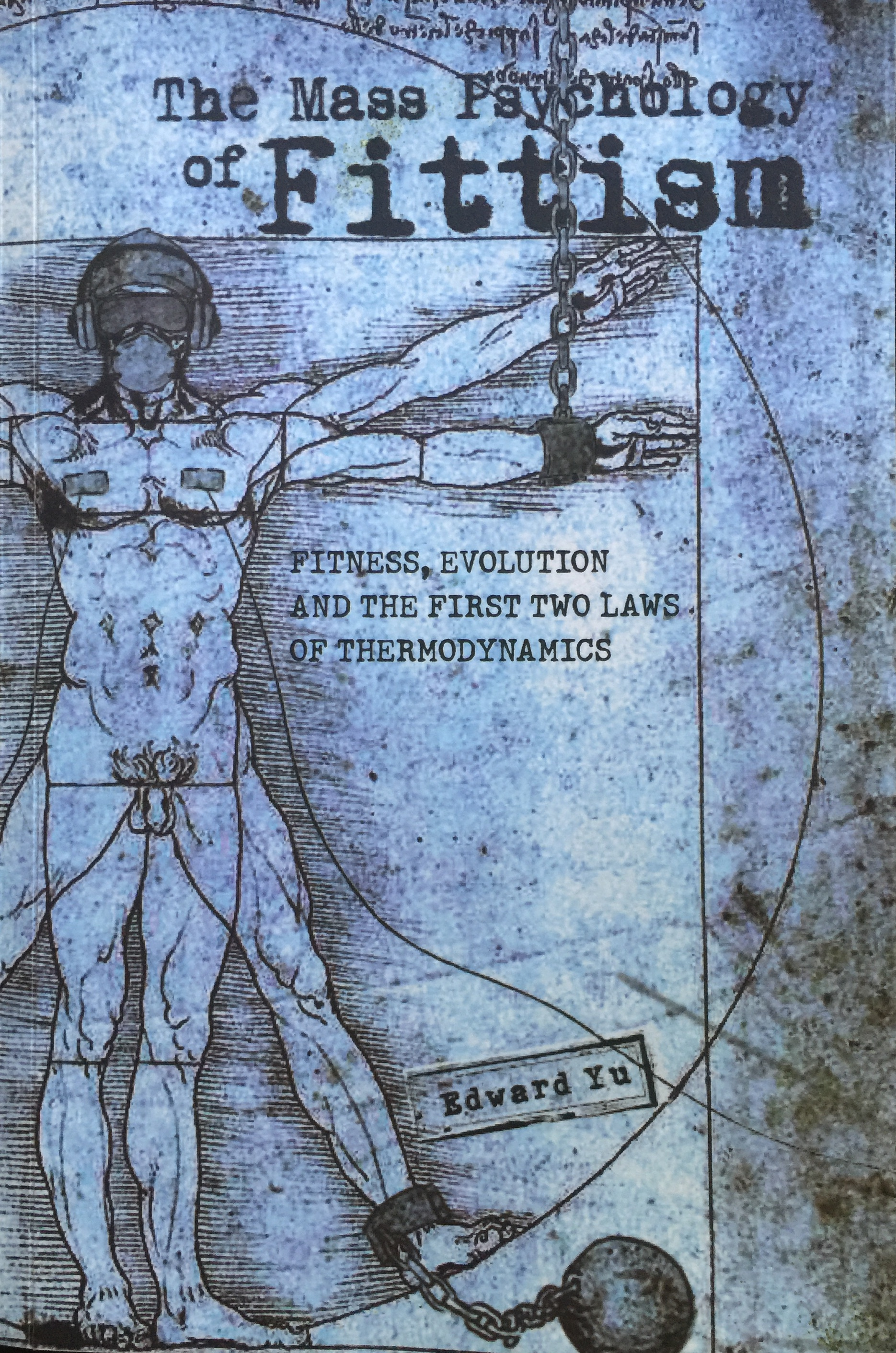 Image shows cover of Mass Psychology of Fittism: Michaelangelo's depiction of human strength