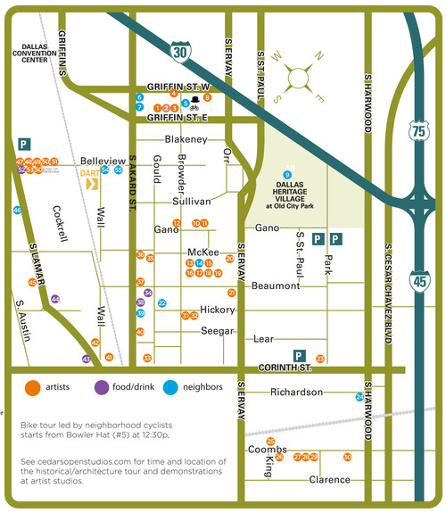 Map of Cedars Open Studios