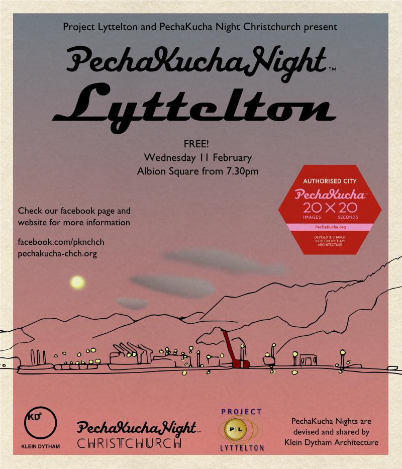 PechaKucha Night Lyttelton poster