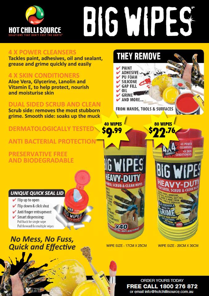 Big Wipes - Heavy Duty Scrub & Clean Wipes