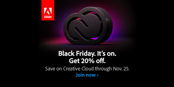 Adobe Balck Friday Sale