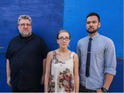 Photo of Thumbscrew: Michael Formanek, Mary Halvorson, and Thomas Fujiwara