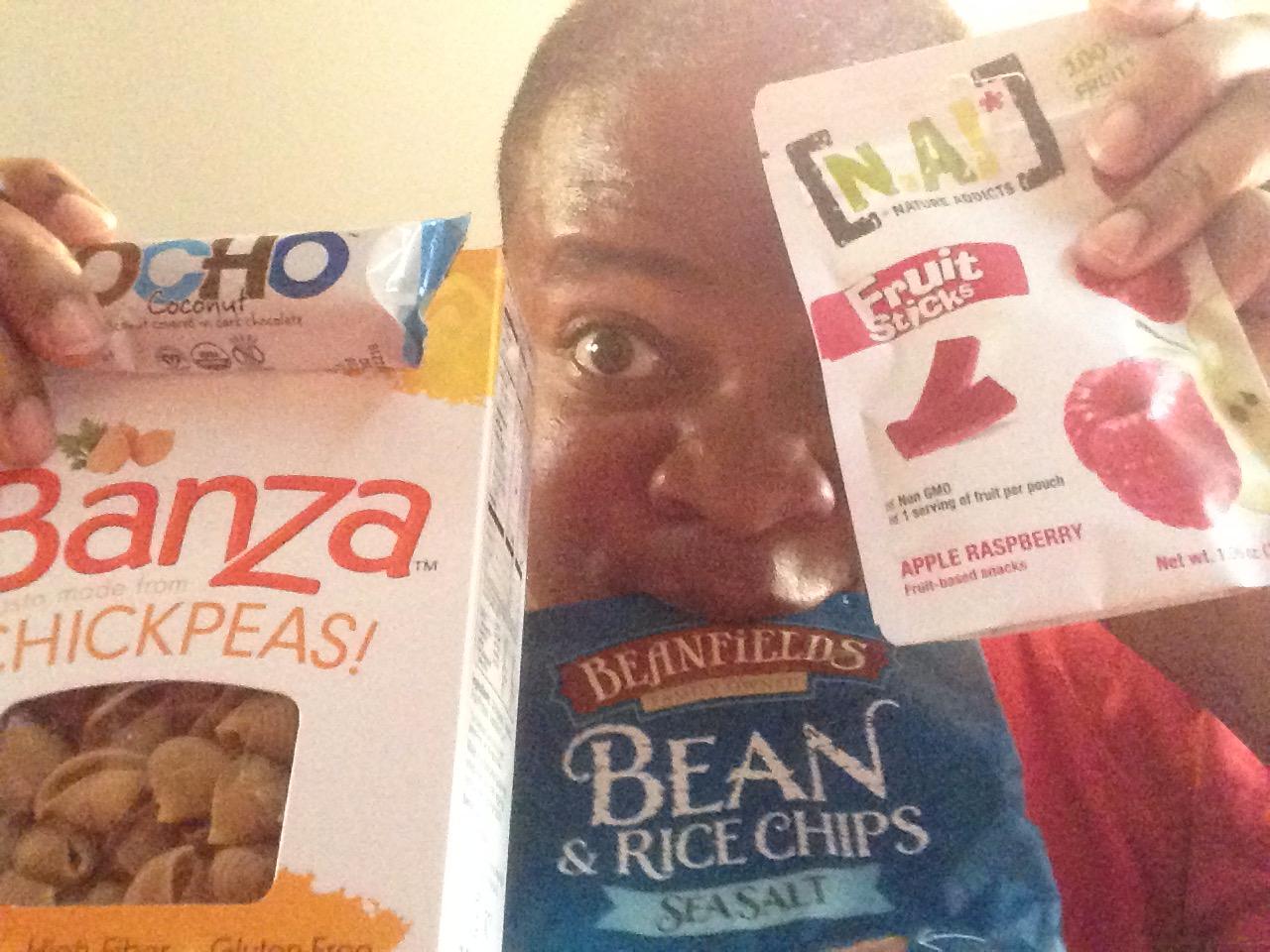 Producer D. sneak previewing Vegan Cuts' September Snack Box