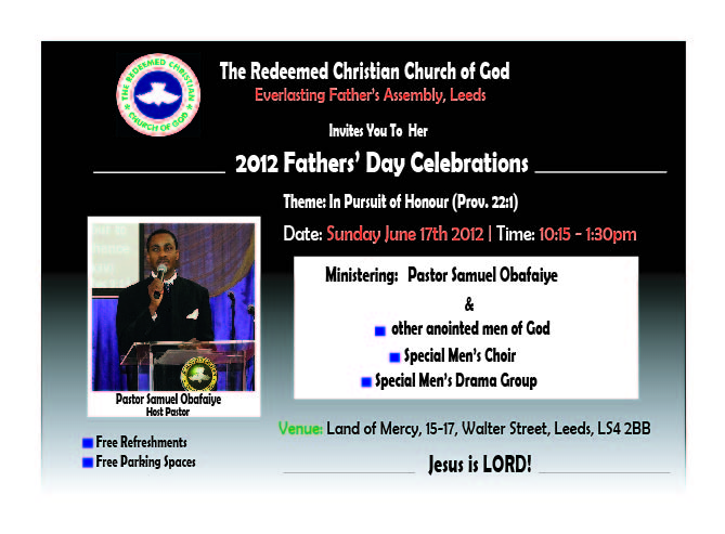 2012 Fathers' Day Celebrations