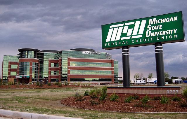 MSU FCU Building and Sign