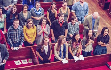 Young adults at Cathedral Good Friday service