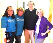 Matt McCormick with volunteers from Church of the Resurrection