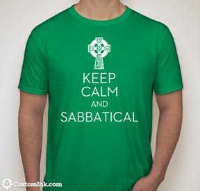 Keep calm and sabbatical t-shirt