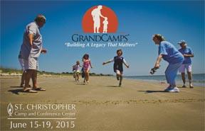 Grandcamp Postcard kids running on beach