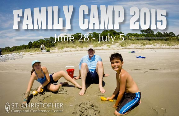 Family Camp Postcard