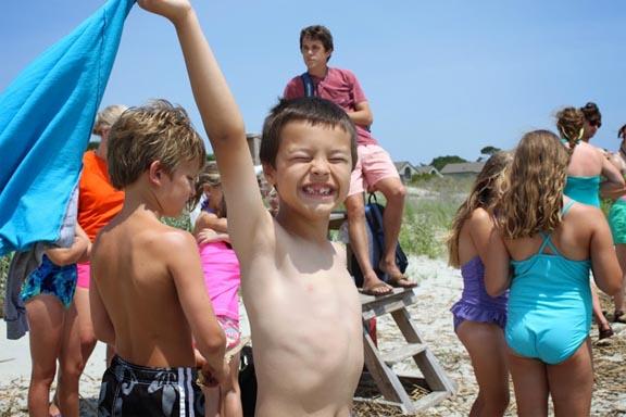 Children having fun at summer camp