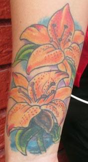 Tattoo of lillies