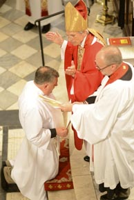 Bishop Lawrence ordains the Rev. Brian McGreevy