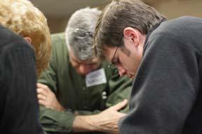Clergy praying