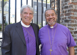 Bishop Mark Lawrence with Bishop Tito Zavala