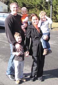 The Rev. Chris Bear and family