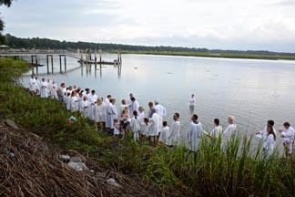 Church of the Cross river baptisms