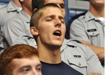 Citadel Cadets worship in FCA meeting