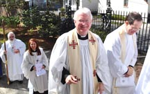 Clergy in White Stoles