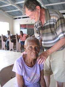 Diocesan Medical Mission examination of patient