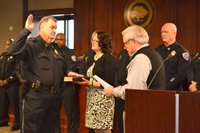 The swearing in of Police Chief Driggers