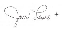 Canon Jim Lewis' signature