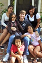 Suzy McCall, Missionary in Honduras, with her family