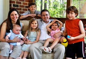 The Rev. Jonathan Riddle and family