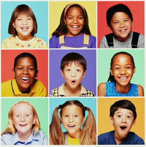 Photo of nine children