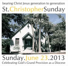 St. Christopher Sunday Poster