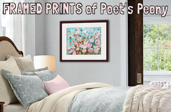 """Poet's Peony Garden, 24x30"""" mixed media on canvas"""