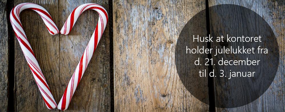 Billede: Kontoret holder julelukket fra d. 21. december til d. 3. januar