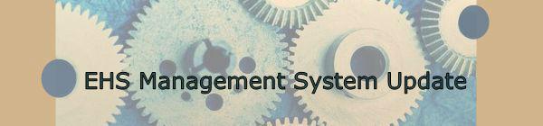 EHS Management System Update