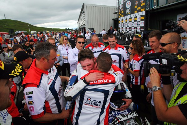Dixon celebrated an emotional first MCE BSB race win
