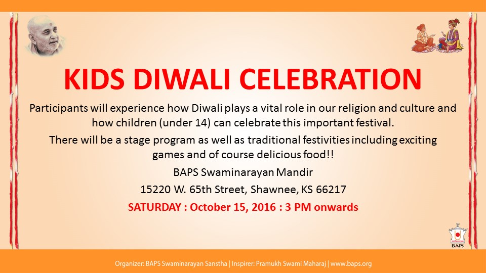 Invite : Kids Diwali Celebration and Blood Drive
