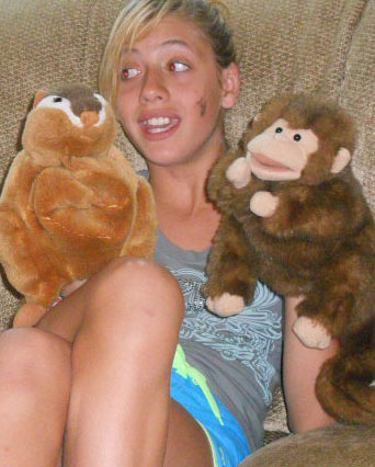 Jazmine with the puppets