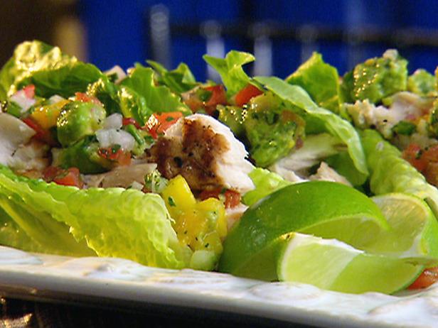 Mahi mahi lettuce wraps