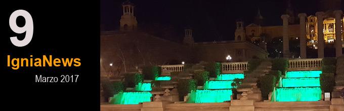 Ignialight- Iluminación LED cascada Montjuic
